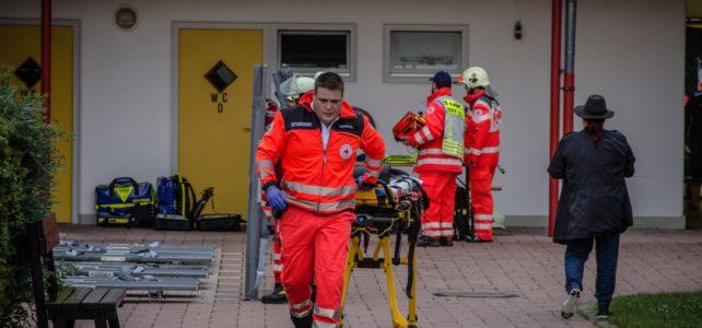 Übung: Blitzeinschlag mit mehreren Verletzten im Ainringer Freibad